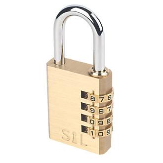smith locke brass combination padlock 38mm combination padlocks