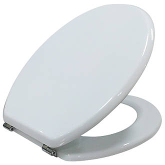 wooden white toilet seat. Cooke And Lewis Standard Closing Toilet Seat Moulded Wood White  Seats Screwfix Com