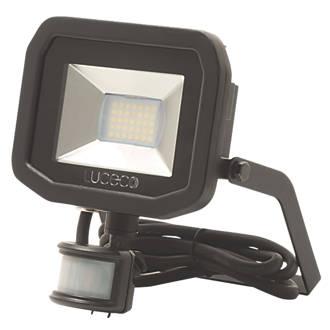 bd63d8dff98 Luceco Guardian LED Floodlight & PIR Black 15W Cool White