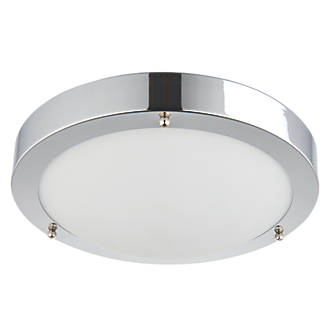 release date fa330 bdd15 Saxby Portico LED Bathroom Ceiling Light Chrome 650lm 9W