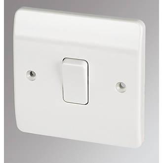 Mk 1 Gang 2 Way 10ax Light Switch White Switches Sockets Fix
