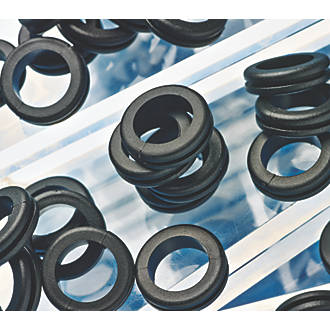 *Pk of 40 Of Grommets 19Mm Hole For Electric Wall Surface And Back Boxes