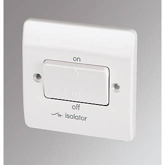 LAP 10AX 3-Pole Fan Isolator Switch White