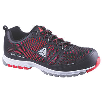 99fa30f1a97 Delta Plus Sportline Safety Trainers Black / Red Size 10