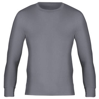 Workforce WFU2600 Long Sleeve Thermal T-Shirt Baselayer Grey X Large 39-41