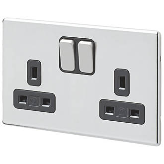 MK Aspect 13A 2 Gang DP Switched Socket