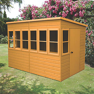 Shire 10 X 6 Nominal Pent Shiplap Tg Timber Shed