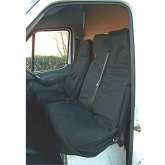 Heavy Duty Black Waterproof Single Seat Cover 1 x Front VAUXHALL VIVARO