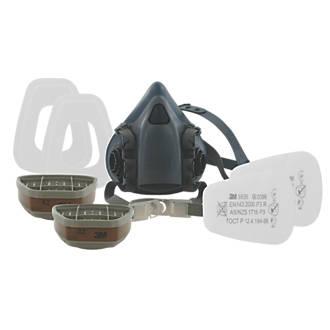 amp; Kit A2-p3 Large Mask Half Respirator 7523 Filter 3m