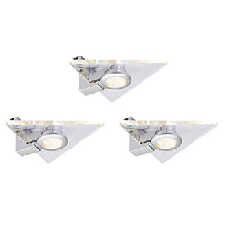 new style ba8fa 09925 Aether LED Triangular Cabinet Light Warm White 7.5W 142mm 3 Pack