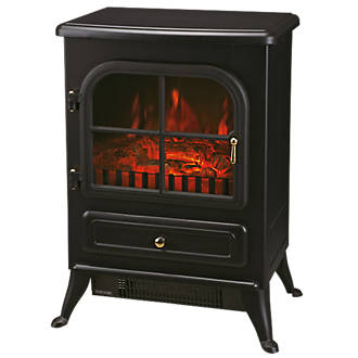 Black Electric Stove Fire Stoves Screwfix Com