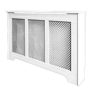 Victorian Radiator Cabinet White 1420 X 210 918mm Covers Fix