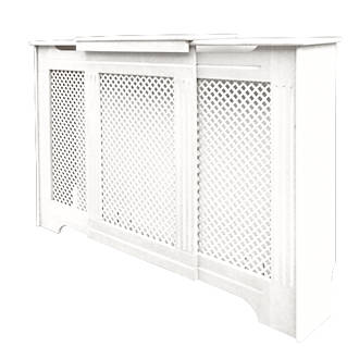 Victorian Adjule Radiator Cabinet White 970 1420 X 235 936mm Covers Fix