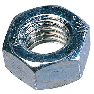 PACK 10 Size M10 Hexagon Hex BZP Full Nut