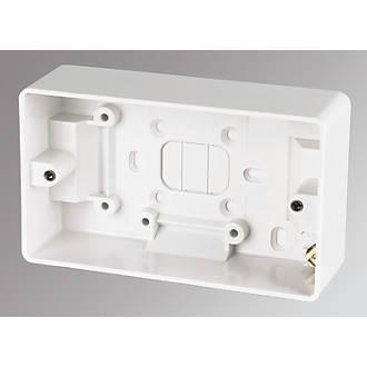 16mm Single Metal Flush Mounted Back Box 1 Gang Brick Wall Hole Pattress
