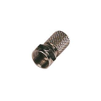 Groovy Philex Coaxial F Plug Pack Of 10 Lead Connectors Screwfix Com Wiring Database Denligelartorg