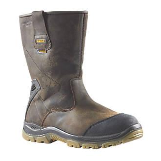 067f8a5499f DeWalt Tungsten Safety Rigger Boots Brown Size 10