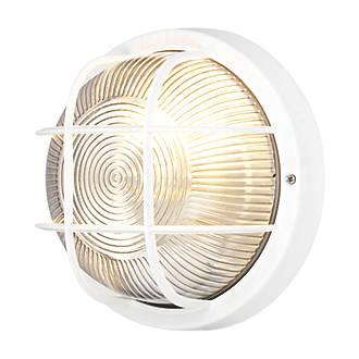 Bulkhead wall light white 240v bulkhead fittings screwfix aloadofball Images