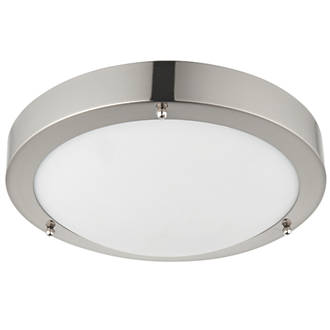 Saxby portico led bathroom ceiling light satin nickel 650lm 9w saxby portico led bathroom ceiling light satin nickel 650lm 9w bathroom ceiling lights screwfix mozeypictures Gallery