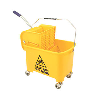 Mobile Mop Bucket Yellow 20ltr Mops