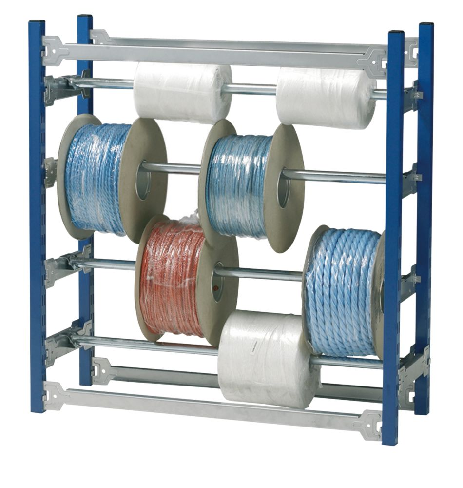 Wire Reel Rack System | Cable Rack Blue Silver 942 X 328 X 983mm Racking Systems