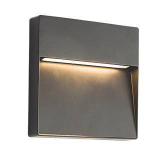 Saxby tuscan square matt black led outdoor wall light 9w led saxby tuscan square matt black led outdoor wall light 9w led wall lights screwfix mozeypictures Choice Image
