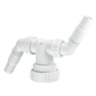 Mcalpine Twin Hose Connector 40mm Traps Screwfix Com
