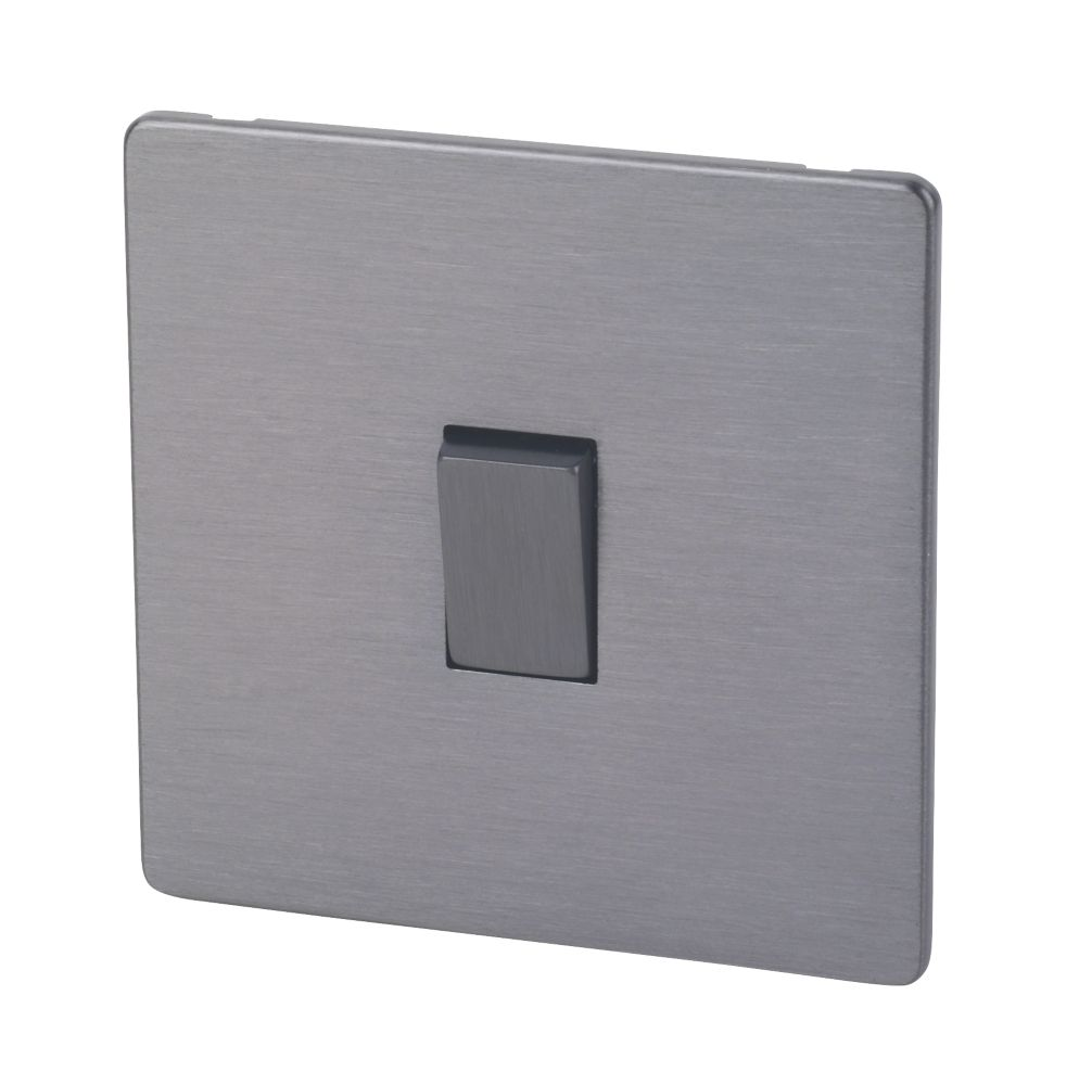 Lap 10ax 1 Gang 2 Way Light Switch Slate Effect Switches Screwfix Com