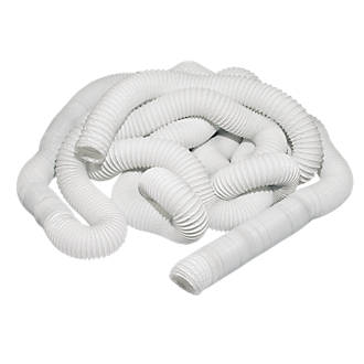 Pvc Flexible Ducting Hose White 45m X 100mm Ducting Hoses Screwfix Com