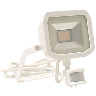 Cool Luceco Guardian Slim Led Pir Floodlight White 22W Cool White Wiring Cloud Hisonuggs Outletorg