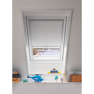 Velux DML MK08 1025S Mains Electric Roof Window Blackout Blind White