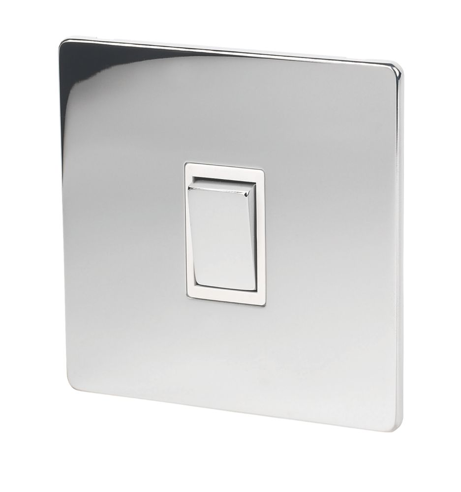 Lap 10ax 1 Gang 2 Way Light Switch Polished Chrome With White Inserts Switches Screwfix Com