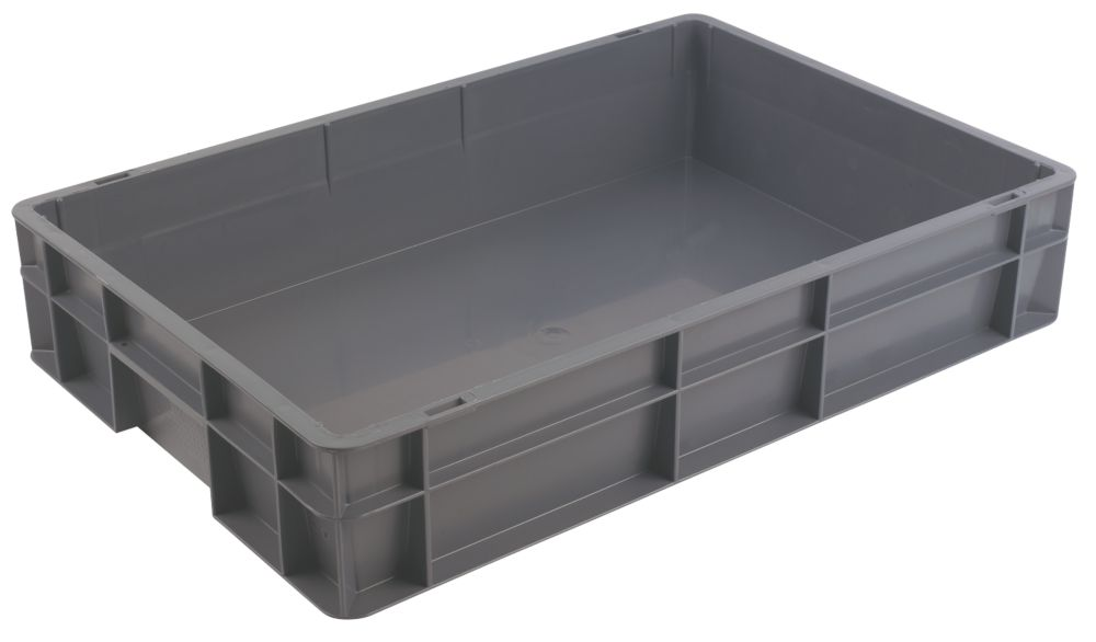 22Ltr Euro Container 400 x 600 x 120mm Storage Boxes Screwfixcom