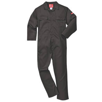 1256a6ff1222 Portwest Bizweld Flame-Resistant Coverall Black Medium 41