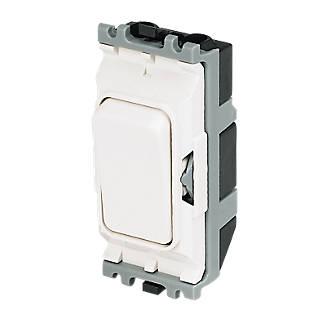 MK 1-Way 20A SP Grid Switch White on
