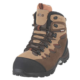78cdabe50e9 Site Elbert Safety Trainer Boots Brown Size 10