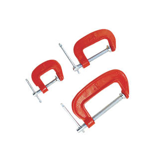 2 Pc Heavy Duty Steel G Clamp Set Hand Screw Clamp