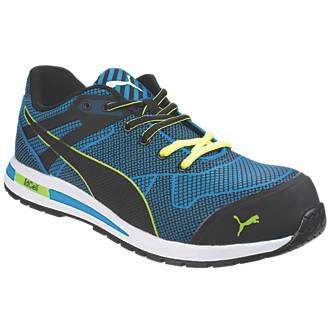 1a46424ba5acc1 Puma Blaze Knit Low Safety Trainers Blue Size 10