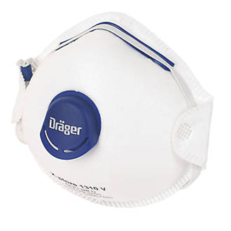 Draeger X-Plore 1310V Cup-Valved Dust Masks P1 10 Pack