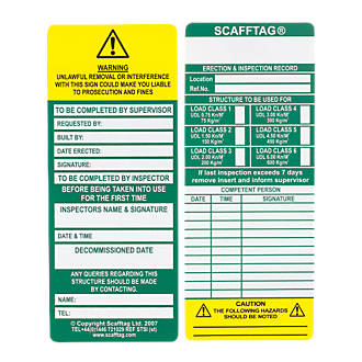 OFFICIAL Scafftag Towertag Scaff Tags Safety Inspection Scaffold Tags Full Kit