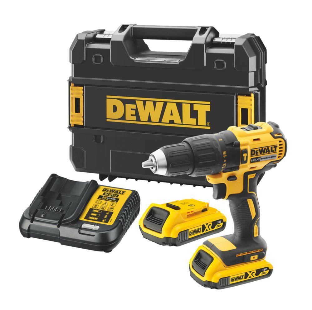 Dewalt Dcd778d2t Sfgb 18v 2 0ah Li Ion Xr Brushless Cordless Combi Drill Combi Drills Screwfix Com