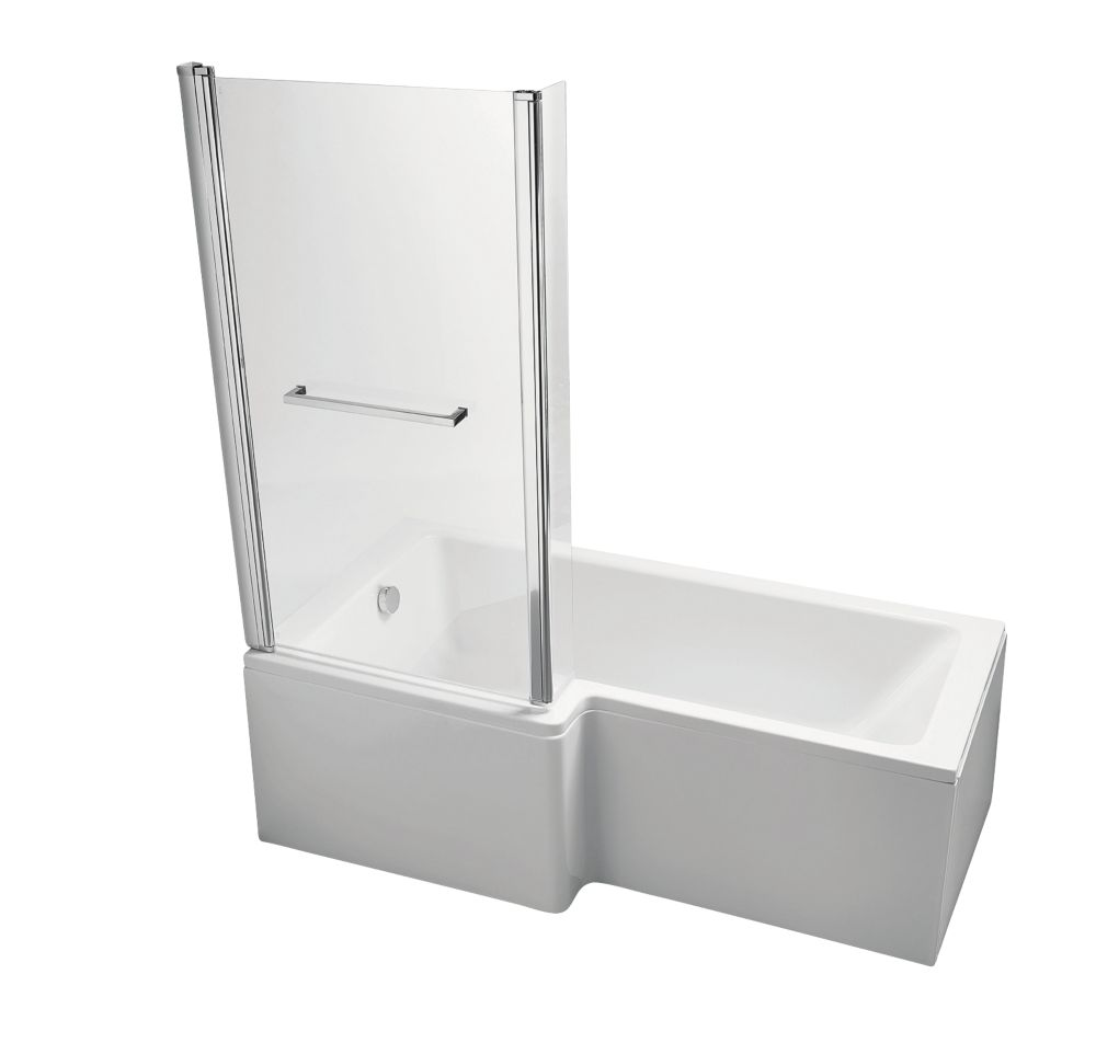 Ideal Standard Shower Baths ideal standard l-shape shower bath left-hand acrylic no tap holes