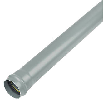 FloPlast SP8G Soil Pipe Single Socket Grey 110mm x 1m
