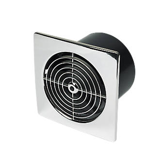 Manrose Lp150stc 25w Kitchen Extractor Fan With Timer Chrome 240v Fans Fix