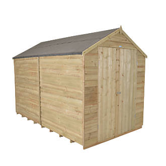 Forest 8 X 10 Nominal Apex Overlap Timber Shed With Assembly
