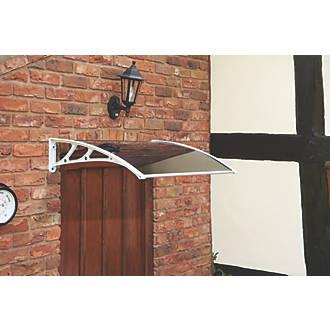 Greenhurst Easy Fit Door Canopy White 1