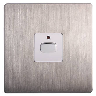Energenie 1 Gang 2 Way Led Dimmer Switch Brushed Steel 2810x