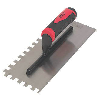 Forge Steel 11 Adhesive Trowel Square Notched 10mm   Tiling Trowels ...