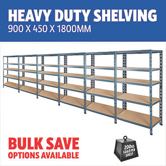 reputable site c7605 89a0b Heavy Duty Shelving 900 x 450 x 1800mm
