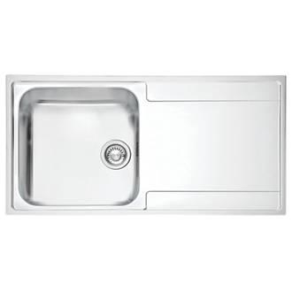 Pleasing Franke Maris Slim Top Inset Kitchen Sink Stainless Steel 1 Bowl 1000 X 510Mm Download Free Architecture Designs Scobabritishbridgeorg